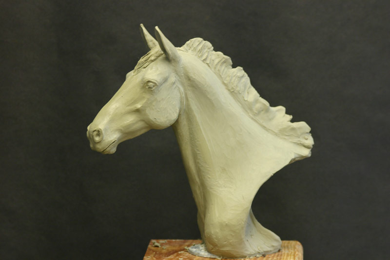 Oil Based Clay Original Horse Head Sculpture