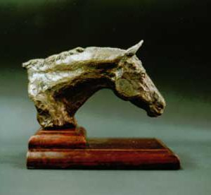 Bronze study of horse head
