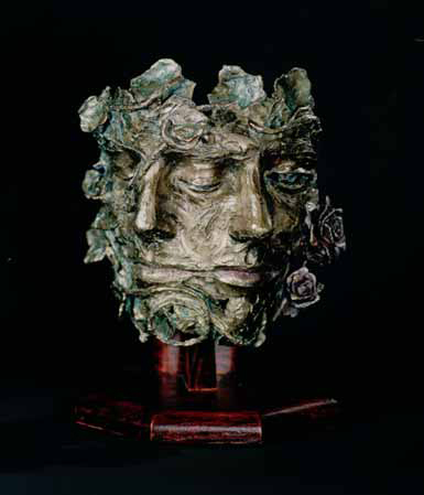 Bronze Sculpture of two melded faces