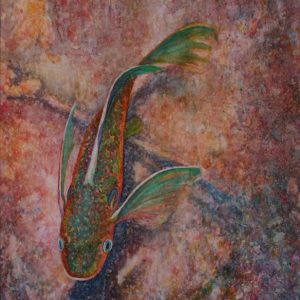 Watercolor of Fish in the shallow water
