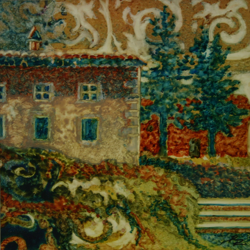 Watercolor of Italian Villa