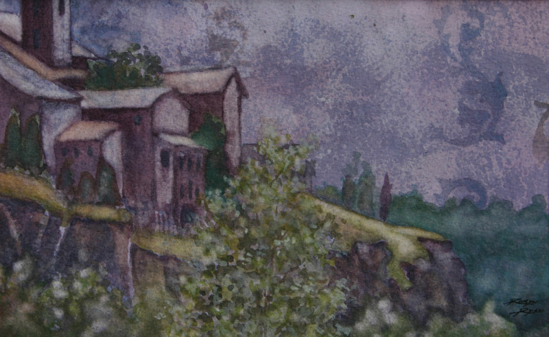 Watercolor of Orvietto Italy