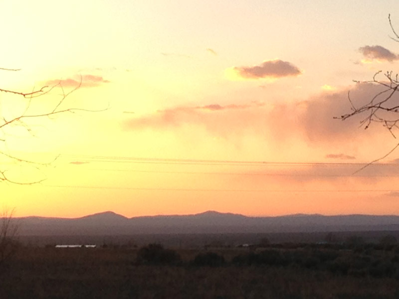 Sunset over high desert, Taos, NM