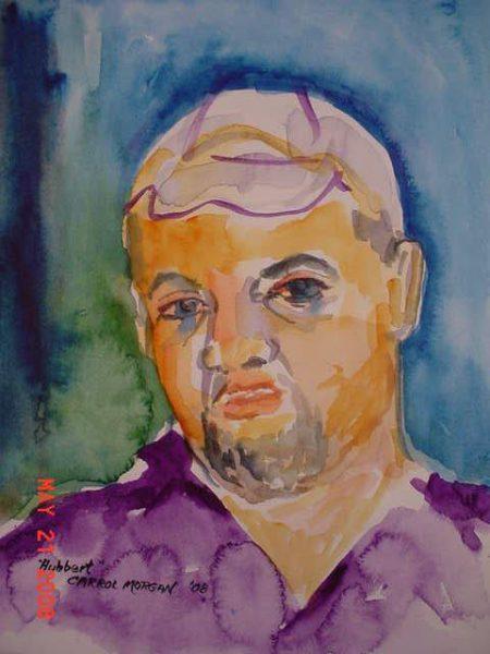Carrol Morgan painting