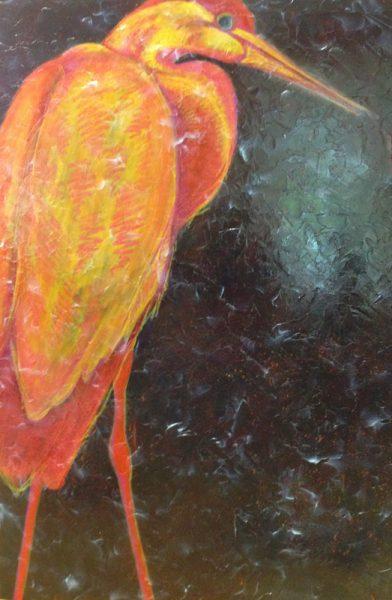 "Stage 2 of Artist Robyn Ryan's ""Heron II"""