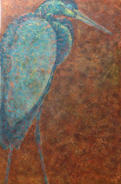 "Stage 5 of Artist Robyn Ryan's ""Heron II"""