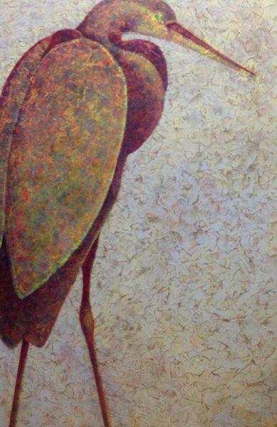 "Stage 7 of Artist Robyn Ryan's ""Heron II"""