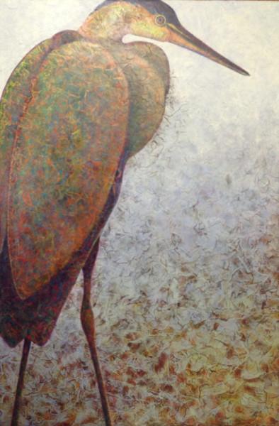 "Stage 8 of Artist Robyn Ryan's ""Heron II"""
