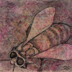 "VA Artist Robyn Ryan Acrylic & Transfer ""Bee Study I"""