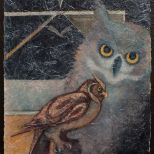 VA artist Robyn Ryan Acrylic Layers painting of Owl