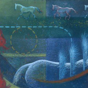 "VA artist Robyn Ryan Water Media painting ""Volte Quilt"""
