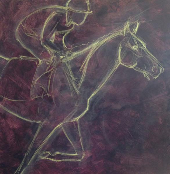 VA Artist Robyn Ryan Acrylic Layers painting step 1