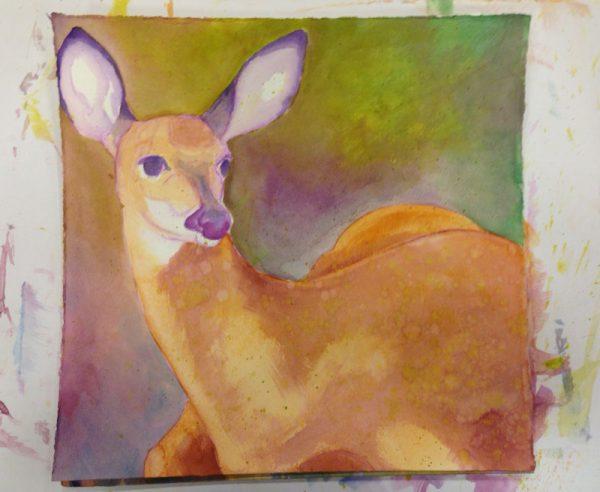 Deer Under Painting
