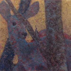 Artist Robyn Ryan Deer Acrylic Layers Painting