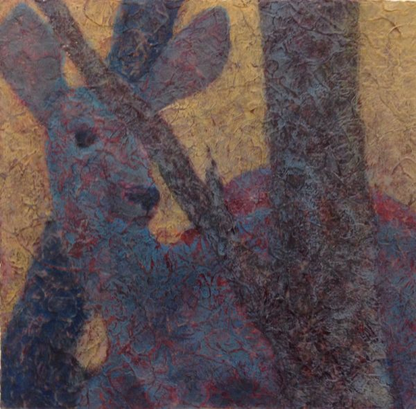 Deer - after 2 gel and painting layers
