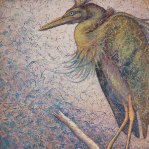 """Heron IV"" Acrylic Layers Painting by VA Artist Robyn Ryan"