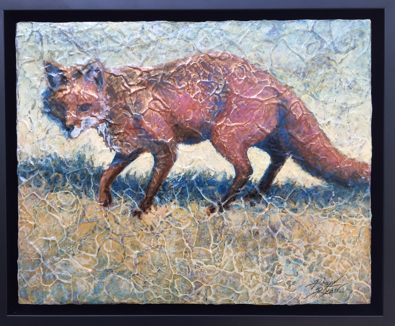"Robyn Ryan Acrylic Layer Painting ""Red Fox II"""