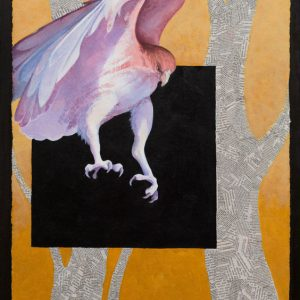 """""""Incoming III"""" 24"""" x 18"""" Mixed Media Collage by Artist Robyn Ryan"""