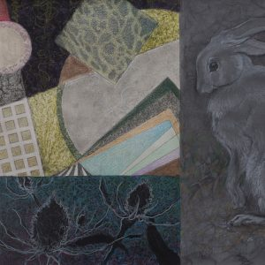 """Ode to Watership Down"" mixed dry media on paper by Robyn Ryan"