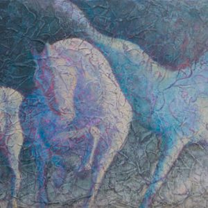 """Gallop III"" 12"" x 24"" Acrylic Layers by Artist Robyn Ryan"