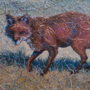 """""""Red Fox II"""" 8"""" x 10"""" Acrylic Layers by Artist Robyn Ryan"""
