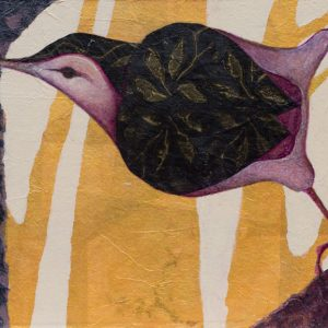 """Nuthatch Study I"" "" 8"" x 11"" Collage by VA Artist Robyn Ryan"