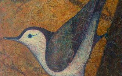"""Nuthatch I"" Acrylic Layers Accepted into VMRC National Exhibit & SOLD!"