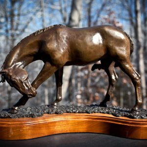 Bronze sculpture horse