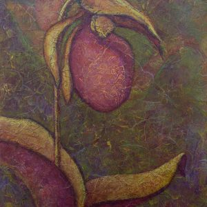 Acrylic painting of Lady Slipper