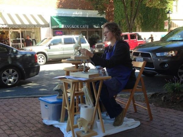 VA Artist Robyn Ryan at 2013 Art Attack in Fredericksburg