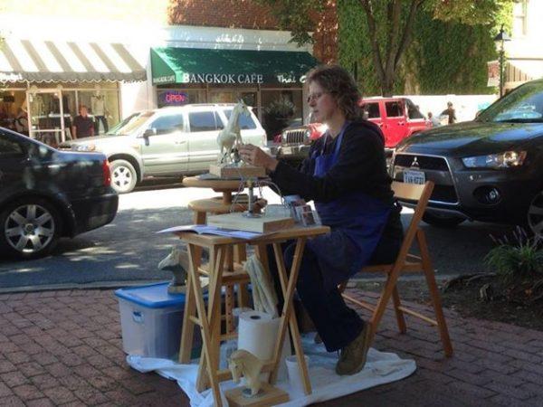 VA Artist Robyn Ryan at 2013 Art Attack in Fredericksburg
