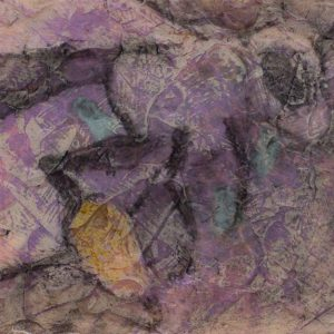 "VA Artist Robyn Ryan Acrylic Layers with Transfer ""Bee study II"""