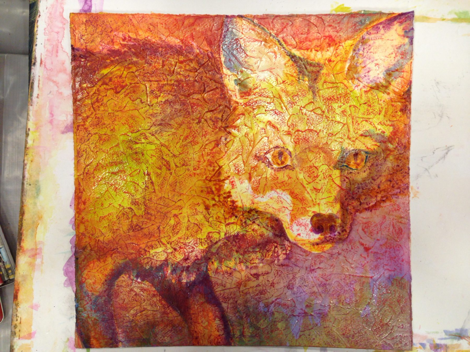 Robyn Ryan Fox painting, layer 2