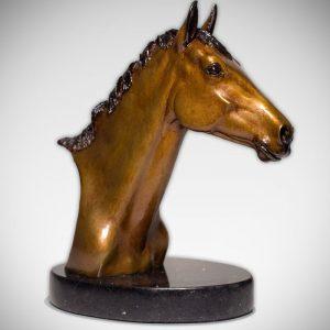 Corsair bronze equine bust by VA Artist Robyn Ryan