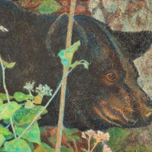"""Black Bear III"" Acrylic Layers Painting by VA Artist Robyn Ryan"