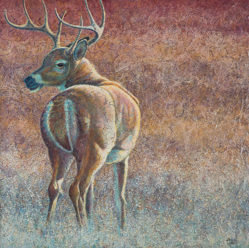 """Eight Points"" Acrylic Layers Painting by VA Artist Robyn Ryan"