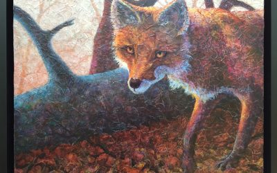 """My Red Foxes sighted at the """"Scale"""" Exhibit!"""