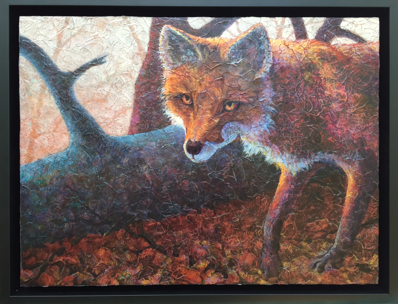 """Robyn Ryan Acrylic Layer Painting """"Woods Walker"""""""