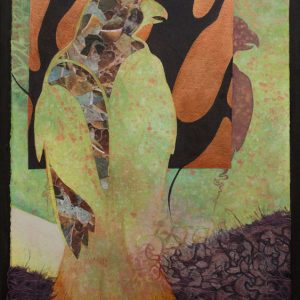 """Woodland Echo I"" 24"" x 18"" Mixed Media Collage by Artist Robyn Ryan"
