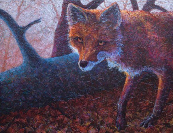 """""""Woodland Walker"""" 18"""" x 24"""" Acrylic Layers by Artist Robyn"""