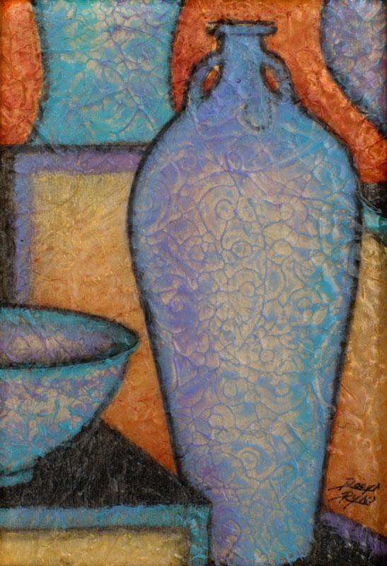 """""""Vessels"""" """" 5"""" x 7"""" Acrylic Layers by Virginia Artist Robyn Ryan"""