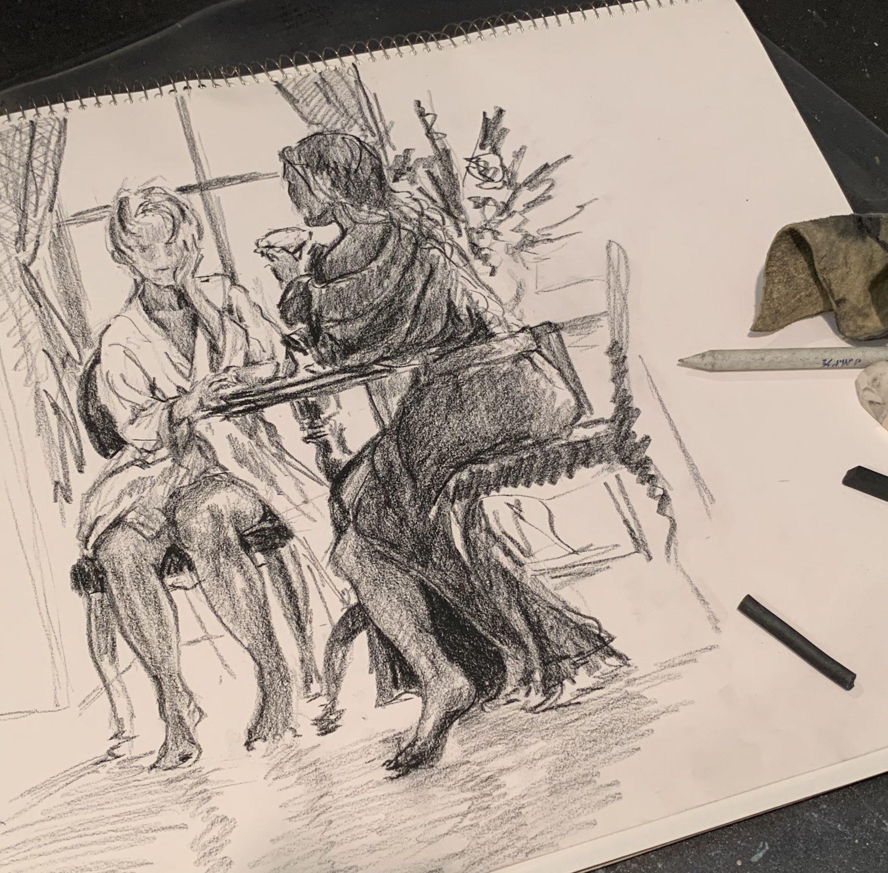 Robyn Ryan Charcoal Drawing