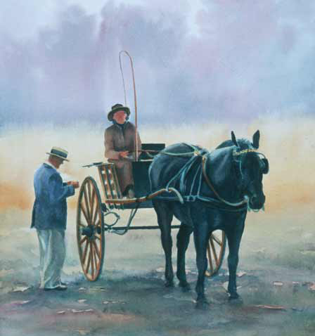 Robyn Ryan Watercolor Painting of Carriage