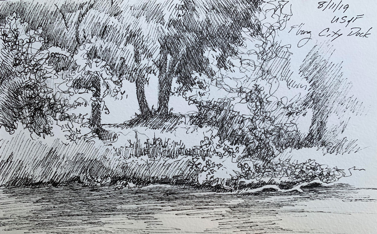 Robyn Ryan Sketch Across the River