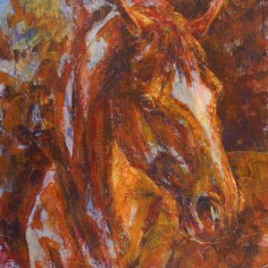 Fire Horse acrylic painting by VA artist Robyn Ryan