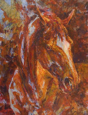 Fire Horse acrylic painting by VA artist Robyn Ryan