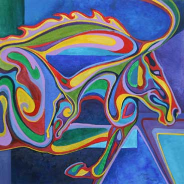 Robyn Ryan's Equine Shapes ~ In and Out VII