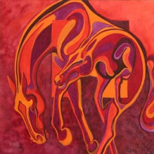 Virginia Artist Robyn Ryan's Equine Shapes ~ In and Out VIII