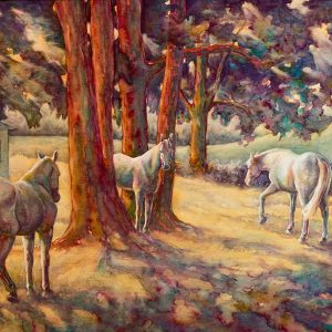 "Robyn Ryan Watercolor ""Locust Shade"""