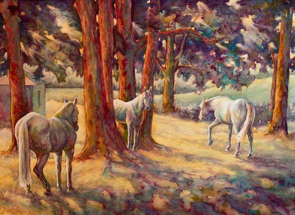 "Robyn Ryan Watercolor ""Locust Shade"""